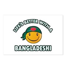 Cute Bangladeshi designs Postcards (Package of 8)