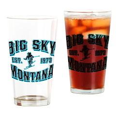 Big Sky Black Ice Drinking Glass