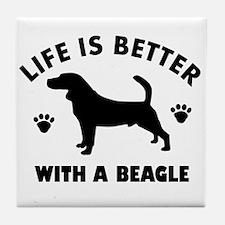 Beagle Dog Breed Design Tile Coaster