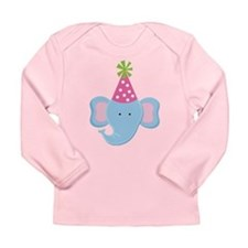 Birthday Elephant Long Sleeve Infant T-Shirt