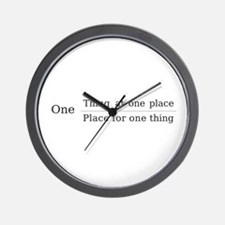 One place one thing Wall Clock