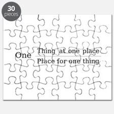 One place one thing Puzzle