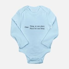 One place one thing Long Sleeve Infant Bodysuit