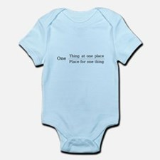 One place one thing Infant Bodysuit