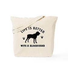 Bloodhound Dog Breed Design Tote Bag