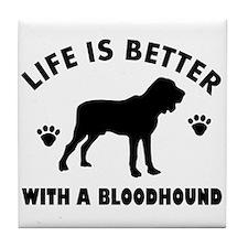 Bloodhound Dog Breed Design Tile Coaster