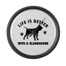 Bloodhound Dog Breed Design Large Wall Clock