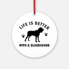 Bloodhound Dog Breed Design Ornament (Round)