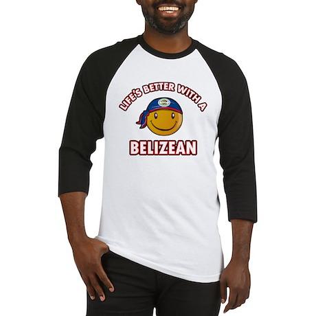 Cute Belizean designs Baseball Jersey