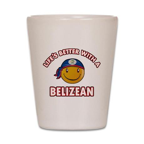 Cute Belizean designs Shot Glass