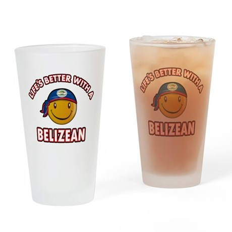 Cute Belizean designs Drinking Glass