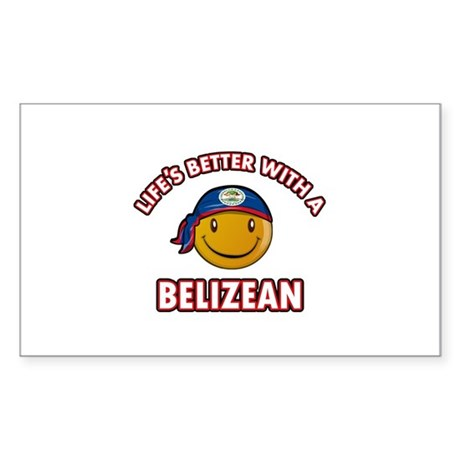 Cute Belizean designs Sticker (Rectangle)