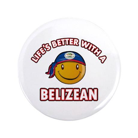 """Cute Belizean designs 3.5"""" Button"""