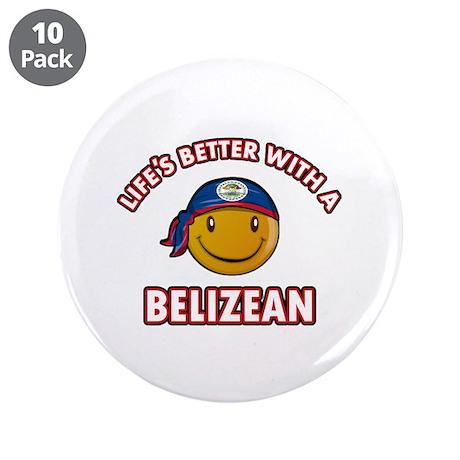 """Cute Belizean designs 3.5"""" Button (10 pack)"""