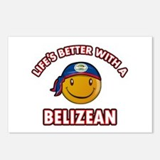 Cute Belizean designs Postcards (Package of 8)
