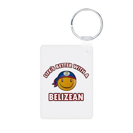 Cute Belizean designs Aluminum Photo Keychain