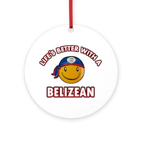 Cute Belizean designs Ornament (Round)