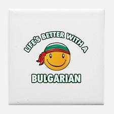 Cute bulgarian designs Tile Coaster