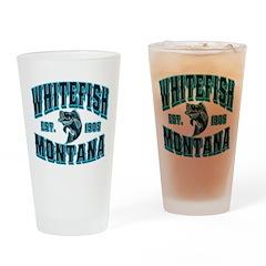 Whitefish Black Ice Drinking Glass