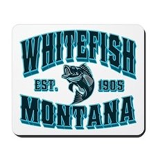 Whitefish Black Ice Mousepad