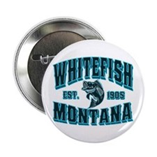 "Whitefish Black Ice 2.25"" Button"