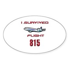 FLIGHT 815 OCEANIC AIR Oval Decal