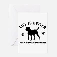 Chesapeake Bay Retriever Dog Breed Design Greeting