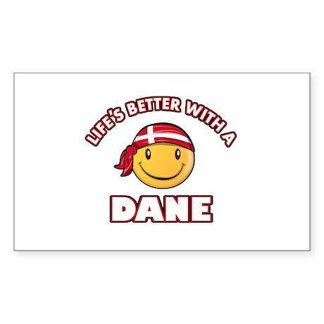 Cute Dane designs Sticker (Rectangle 10 pk)