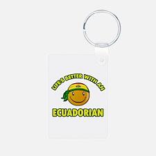 Cute Ecuadorian designs Keychains