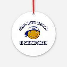 Cute El-Salvadorian designs Ornament (Round)