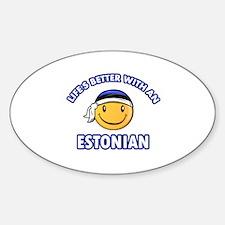 Cute Estonian designs Sticker (Oval)