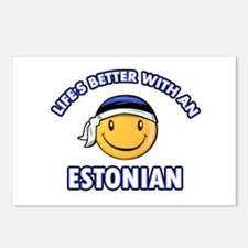 Cute Estonian designs Postcards (Package of 8)
