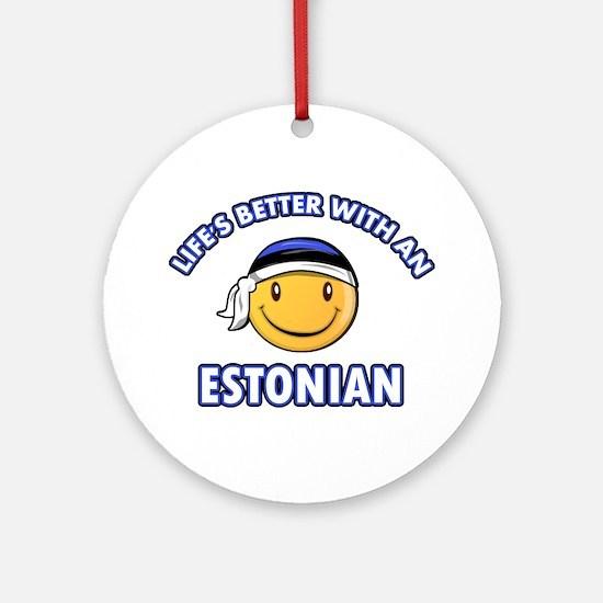 Cute Estonian designs Ornament (Round)
