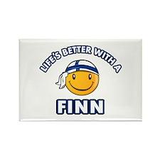 Cute Finn designs Rectangle Magnet