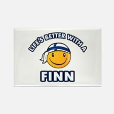 Cute Finn designs Rectangle Magnet