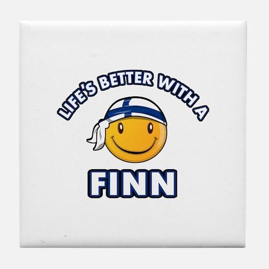 Cute Finn designs Tile Coaster