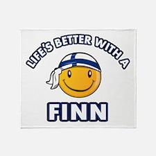 Cute Finn designs Throw Blanket