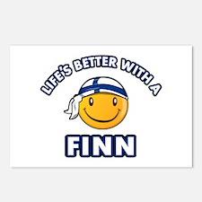 Cute Finn designs Postcards (Package of 8)