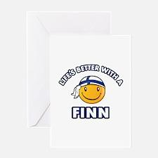 Cute Finn designs Greeting Card