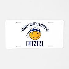 Cute Finn designs Aluminum License Plate