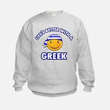 Cute Greek designs Sweatshirt