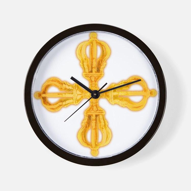 Double Dorje Wall Clock