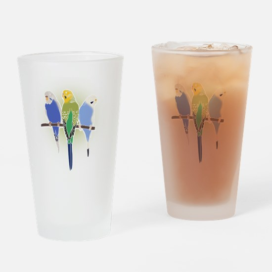 Unique Yellow budgie Drinking Glass