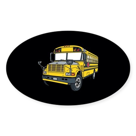 School bus Sticker (Oval)