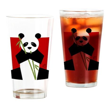 Panda Drinking Glass