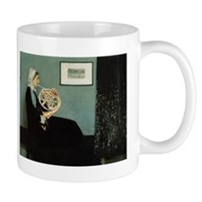 french horn Whistler's Mother Mug