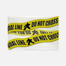 Hockey Crime Tape Rectangle Magnet