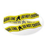 Crime scene hockey tape Stickers