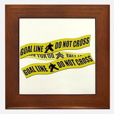 Hockey Crime Tape Framed Tile