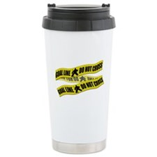 Hockey Crime Tape Travel Mug